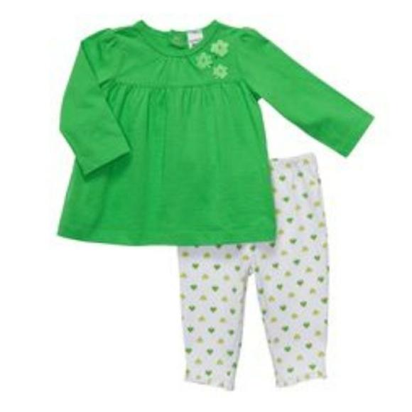 62a6b912d Carter's Matching Sets | Carters St Patricks Day Shamrock Outfit Sz ...